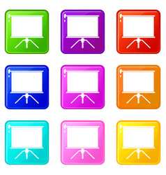 blank projection screen set 9 vector image