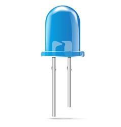 Blue Light Emitting Diode vector