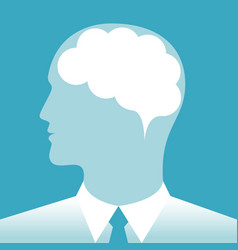 brain a businessman vector image