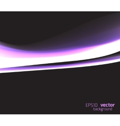 Bright glowing wave on dark vector image