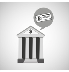 Building bank economy money check vector