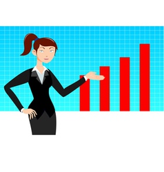 Business woman with graph vector image vector image