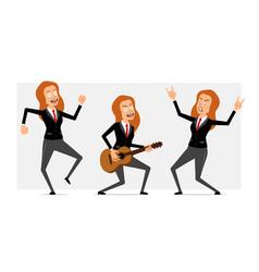 cartoon flat funny business woman character set vector image