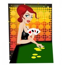 casino girl vector image