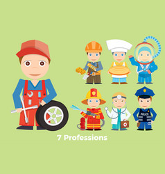 Childrens people profession young children are vector