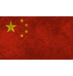 Chinese Flag Grunge vector