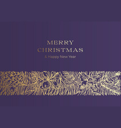 Christmas greetings banner template winter vector