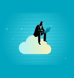 cloud data storage concept vector image