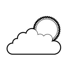 Cloud sky with sun vector