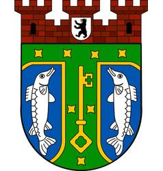 Coat of arms of treptow-koepenick in berlin vector