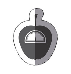 Contour apple weight scale icon vector