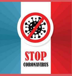 Corona virus in france 2019-ncov coronavirus vector