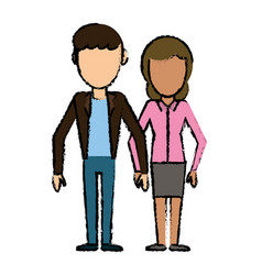 couple people relationship faceless vector image