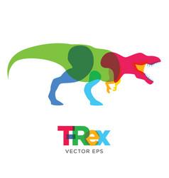 creative tyrannosaurus rex dinosaur design vector image