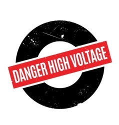 Danger High Voltage rubber stamp vector