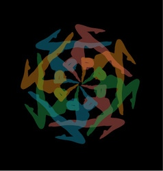 Design element or artwork for yoga site vector image