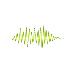 design of music wave sound pulse bright vector image