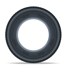 detailed auto tire icon vector image