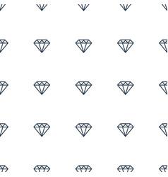 diamond icon pattern seamless white background vector image