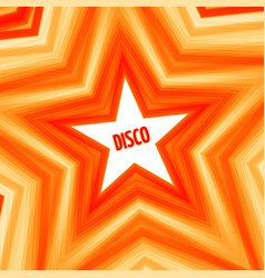 Disco star background vector
