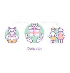 donation concept icon vector image