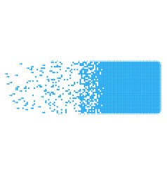 Filled rectangle burst pixel icon vector