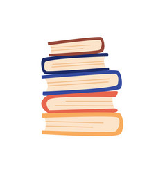 Flat hardcover books train yourself vector