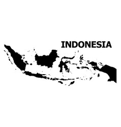 Flat map indonesia with name vector