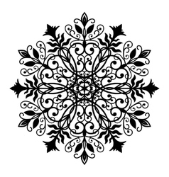 Floral Forged Round Ornament vector