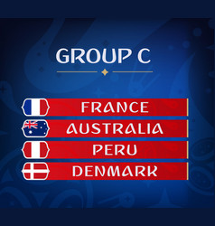 football championship groups set national vector image