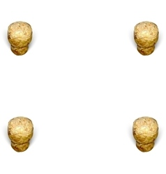 Four champagne corks in the corner white vector