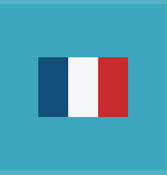 france flag icon in flat design vector image