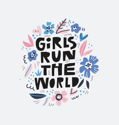 Girls run the world message vector