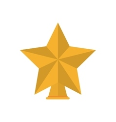 Isolated gold star of Christmas season design vector
