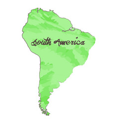 Isolated map of south america vector