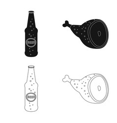Isolated object of pub and bar icon set of pub vector