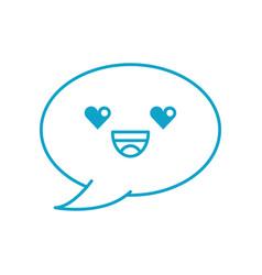 kawaii speech bubble chat comment message vector image