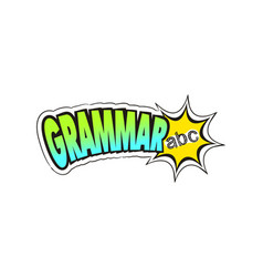 Logo for grammar school subject vector