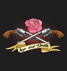 Love and death emblem vector