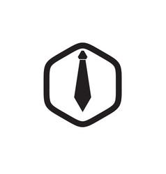 man tie logo design template vector image