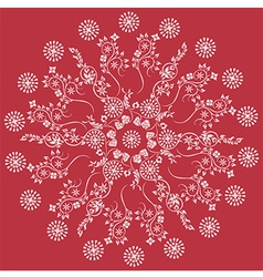 Mandala red floral vector