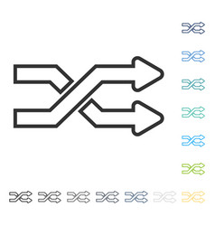 Mix arrows horizontal icon vector