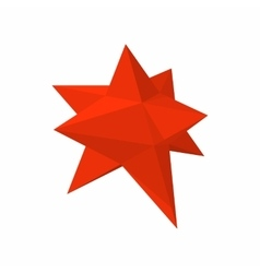 Moravian star star icon cartoon style vector