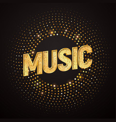 music logo design element isolated musical vector image