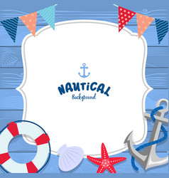 Nautical background design vector