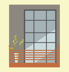 Nice tall broad windows in european style vector