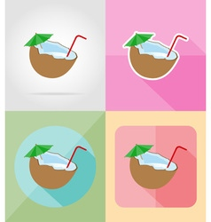 objects for recreation a beach flat icons 13 vector image