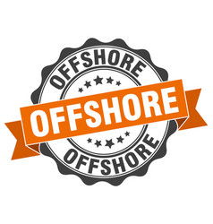 Offshore stamp sign seal vector
