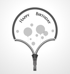 Open zipper and balloons vector