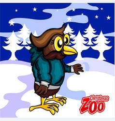 Owl christmas card vector